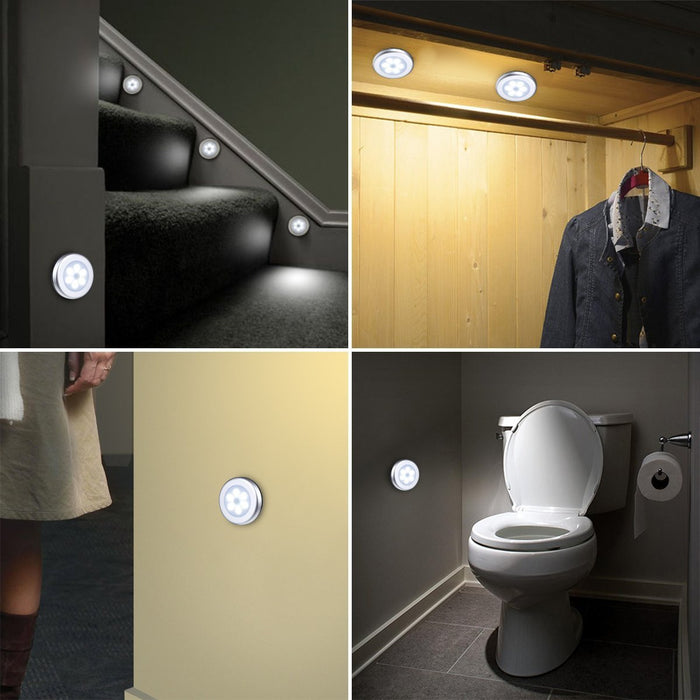 Motion Sensor Light, Cordless Battery-Powered LED Night Light, Stick-anywhere Closet Lights Stair Lights, Safe Lights for Hallway, Bathroom, Bedroom, Kitchen, etc.