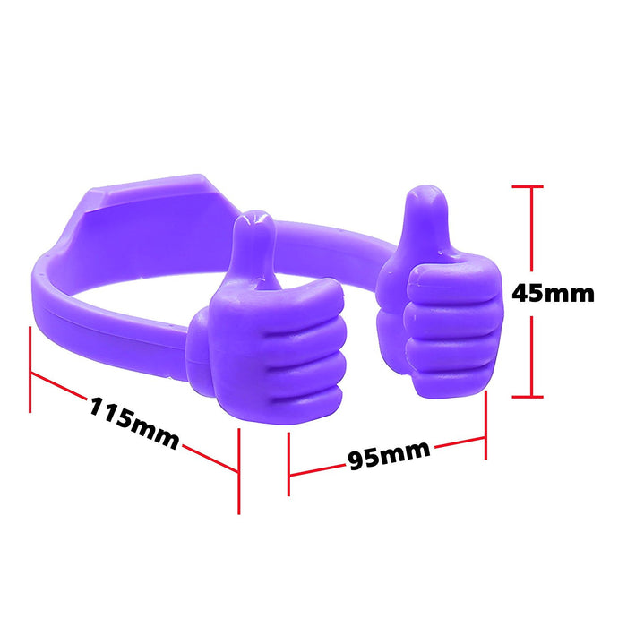 Thumbs-up Phone Stand for Tablets, E-readers and Smart Phones - 2 Pack - Green, Purple