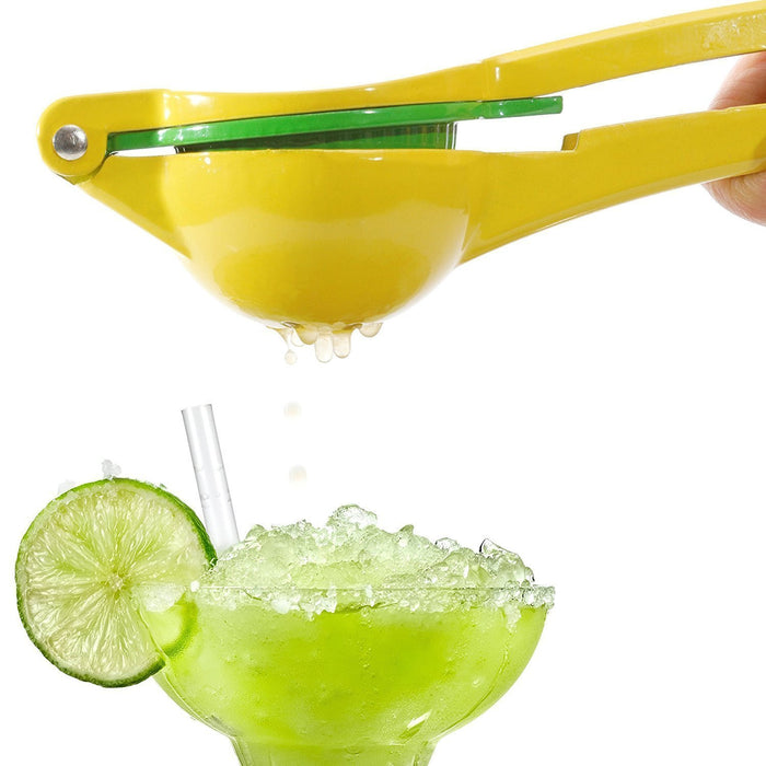 Manual Citrus Press Juicer Top Rated Premium Quality Metal Lemon Lime Squeezer - (Yellow)