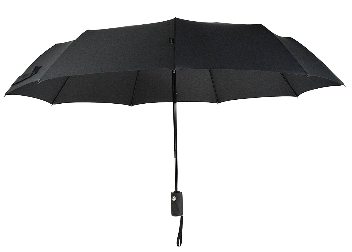 Automatic Travel Umbrella Teflon 210T Canopy 9 Rib Wind Resistant Frame