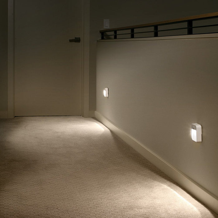 Battery Powered Motion Sensing LED Stick Anywhere Night Light, White