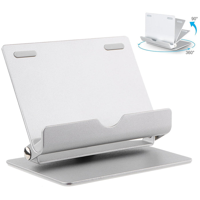 Cell Phone Stand, Tablet Stand, 360° Muti-Angle Aluminum Cell Phone Dock for iPhone, iPad, Samsung Galaxy / Tab, Google Nexus, HTC, LG, Nokia Lumia, OnePlus and More (Silver)