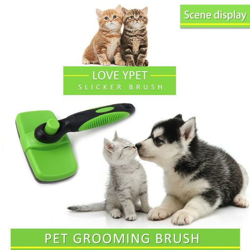 Pet Grooming Brush, Self Cleaning Slicker Brush for Dogs & Cats, Dog Cat Brush Removes Tangled Knots,Mats,Undercoat and Loose Hair with Minimal Effort,Easy to Clean