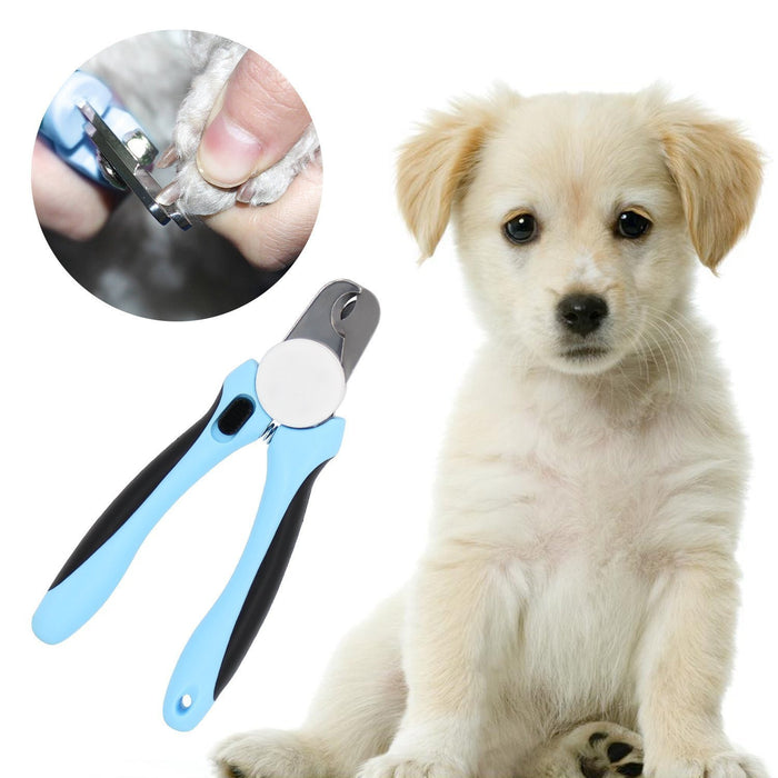 Professional Dog Nail Clippers on Quality Sharp Stainless Steel Blades with Safety Guard | Pet Grooming Trimmer for a Clean & Safe Cut | Easy to Use with Non-Slip Handles