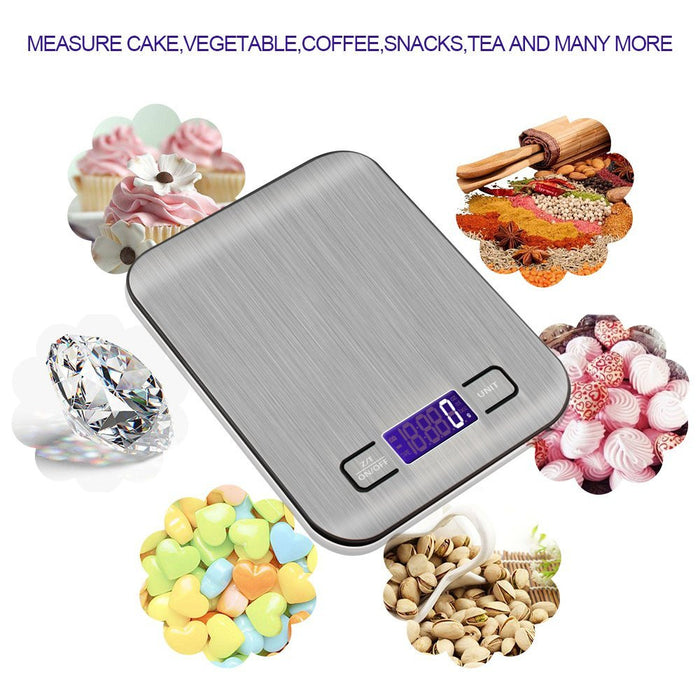 Digital Food Scale,Multifunction Kitchen Gram Scale,Ultra Slim,Multiple Unit Conversion,Stainless Steel Platform with Smooth Surface Meat Scale,Perfect for Kitchen Cooking and Coffee