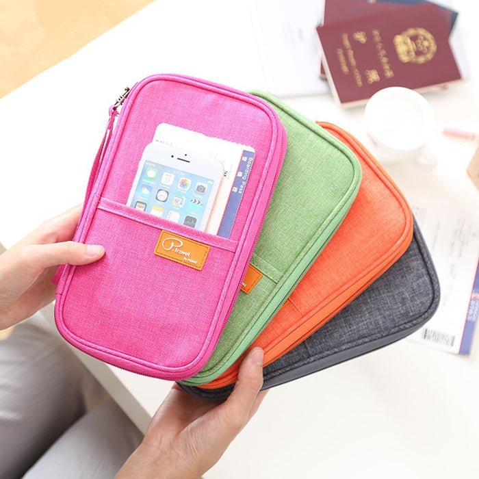 Travel wallet Passport Wallet with Hand Strap