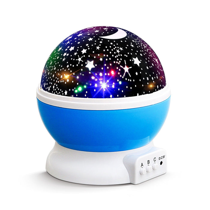 NEW GERNERATION Baby Night Lights for kids, AnanBros Starry Night Light Rotating Moon Stars Projector, 9 Color Options Romantic Night Lighting Lamp, USB Cable / Batteries Powered for Nursery, Bedroo