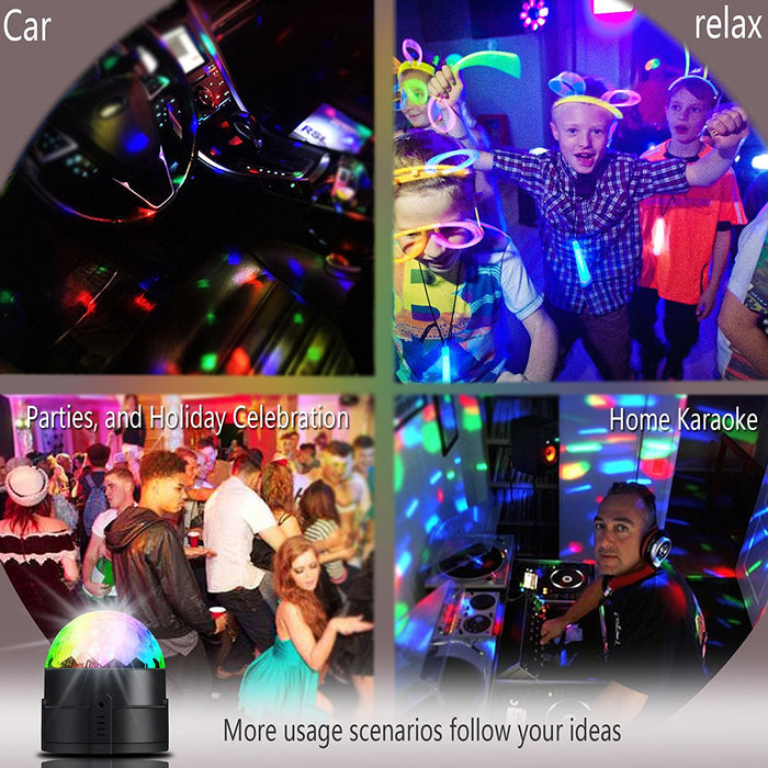 Led Party lights 2nd Generation Strobe Dance Light 3w Disco ball DJ Lights for Parties 7 Color Sound Activated lamp Karaoke Machine Kids Birthday Gift Stage Home Holiday Party Supplies