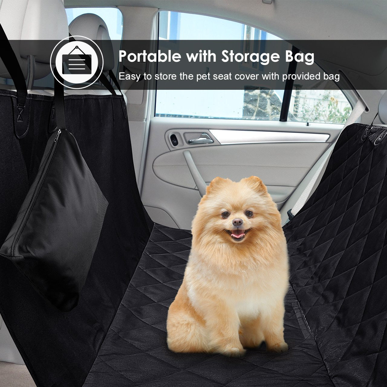 Pet Seat Cover Dog Hammock Waterproof Car Protector With Non Slip Silicone Backing For Cars