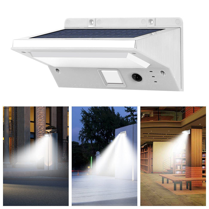 Solar wall lights 21 led bright outdoor solar lights stainless solar wall lights 21 led bright outdoor solar lights stainless steel 3 mode motion sensor aloadofball Image collections