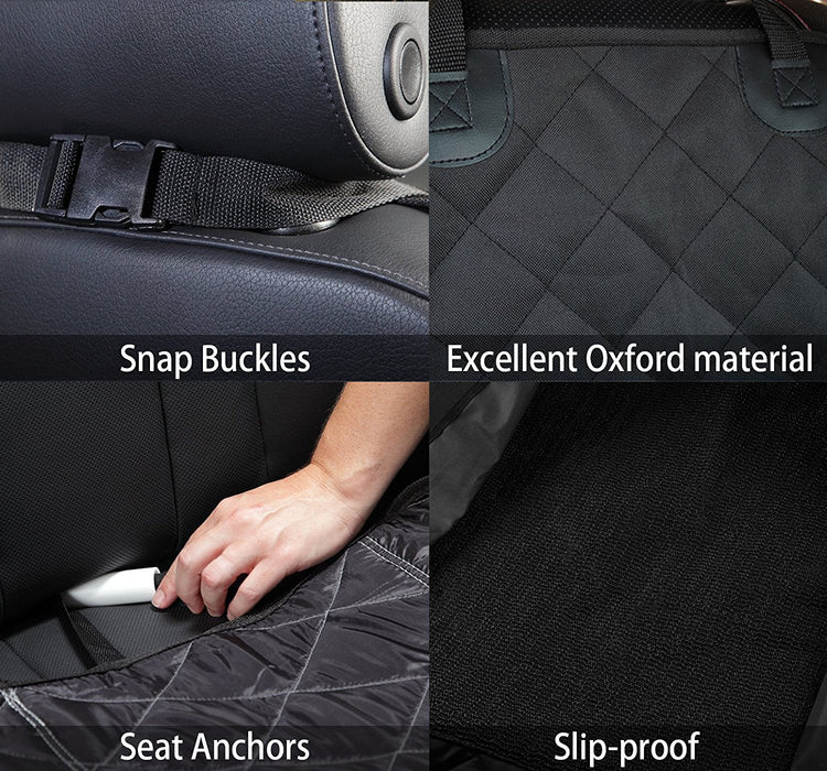 Pet Seat Cover,  Dog Seat Cover For Cars Anti Slip In Large Size - Perfect For Cars, SUVs and Trucks In Universal Size, WaterProof & Hammock Convertible, Installing Easily