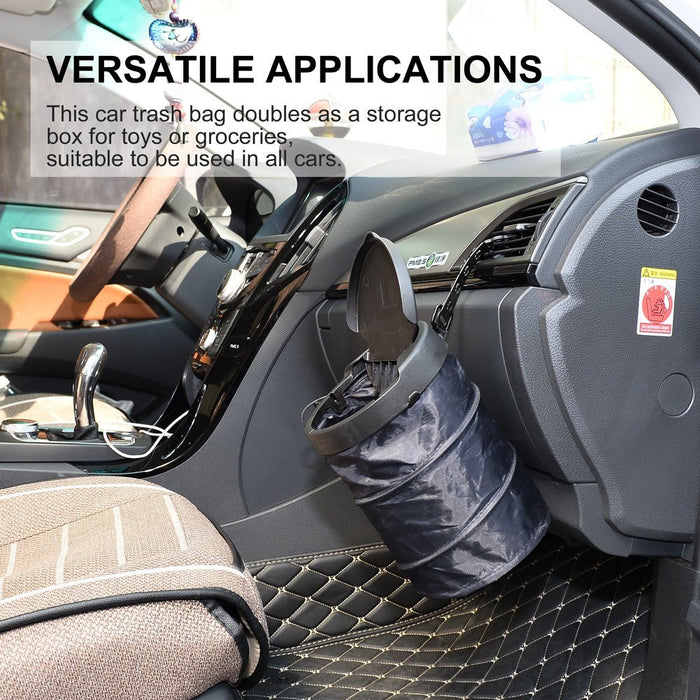 Car Trash Bag Pop-up Collapsible Car Garbage holder for Traveling