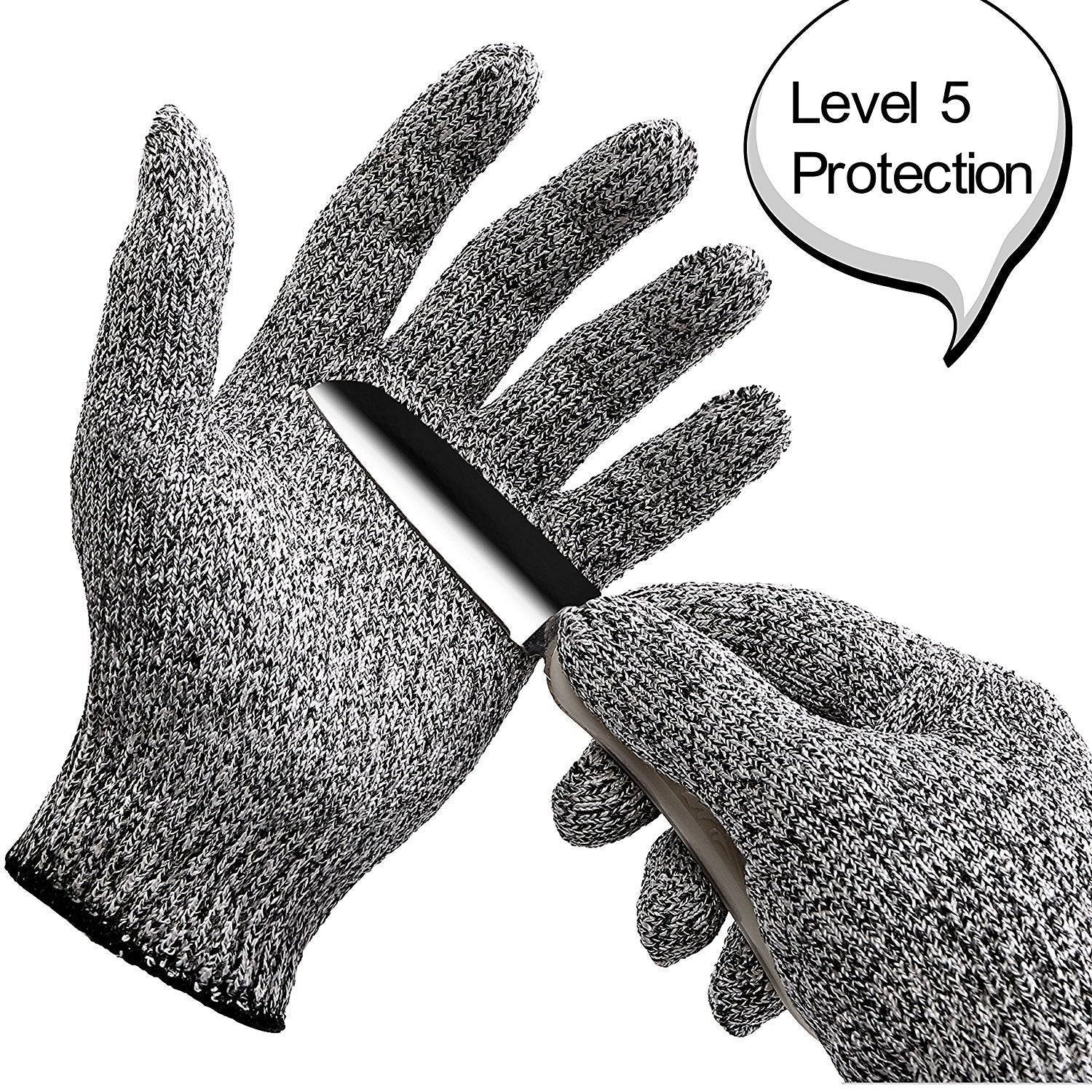 Cut Resistant Gloves Level 5 Protection Food Grade EN388 Certified, Safty  Gloves for Hand Protection and Yard-work, Kitchen Glove for Cutting and ...