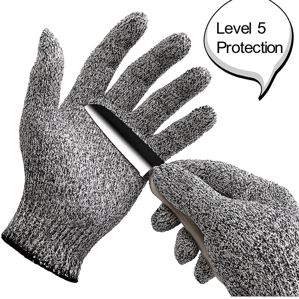 Cut Resistant Gloves Level 5 Protection Food Grade EN388 Certified, Safty Gloves for Hand Protection and Yard-work, Kitchen Glove for Cutting and Slicing,1 Pair (Large)