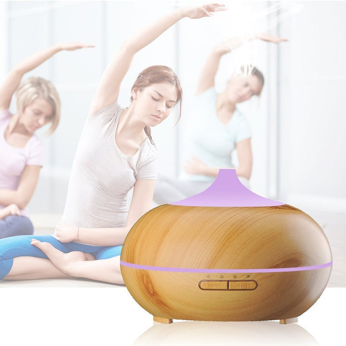 Essential Oil Diffuser 300ml Wood Grain Cool Mist Aromatherapy Humidifier Ultrasonic Aroma Humidifier for Office, Baby Room, Bedroom, Conference room, fitness room