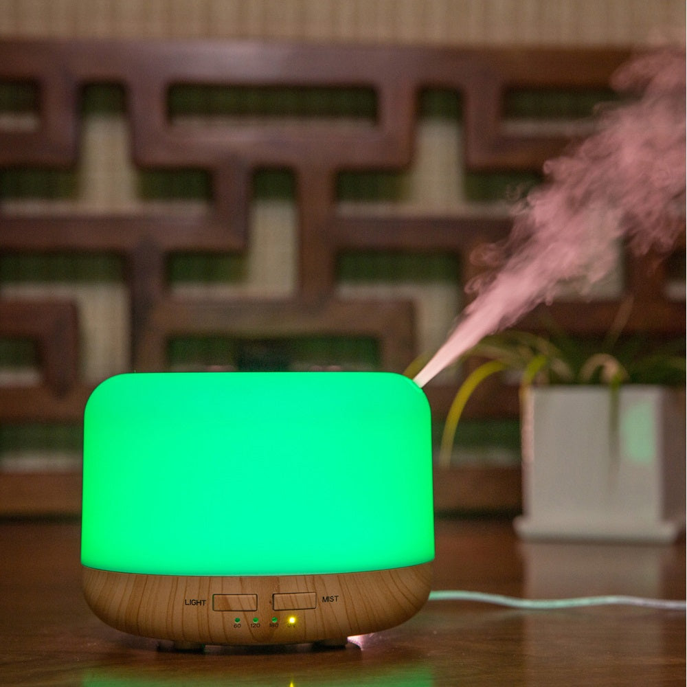500ml Premium, Essential Oil Diffuser, 5 In 1 Ultrasonic Aromatherapy Fragrant Oil Vaporizer Humidifier, Timer and Auto-Off Safety Switch, 7 LED Light Colors