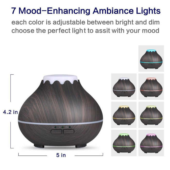 Mini Aroma Essential Oil Diffuser, 150ml Ultrasonic Cool Mist Humidifier with 7 Color LED Lights Changing and Waterless Auto Shut-off for Yoga, Spa, Baby Room