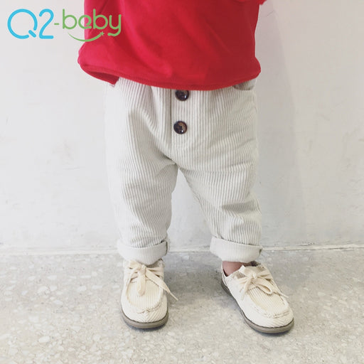 New corduroy trousers spring casual pants in the solid color cotton baby casual trousers