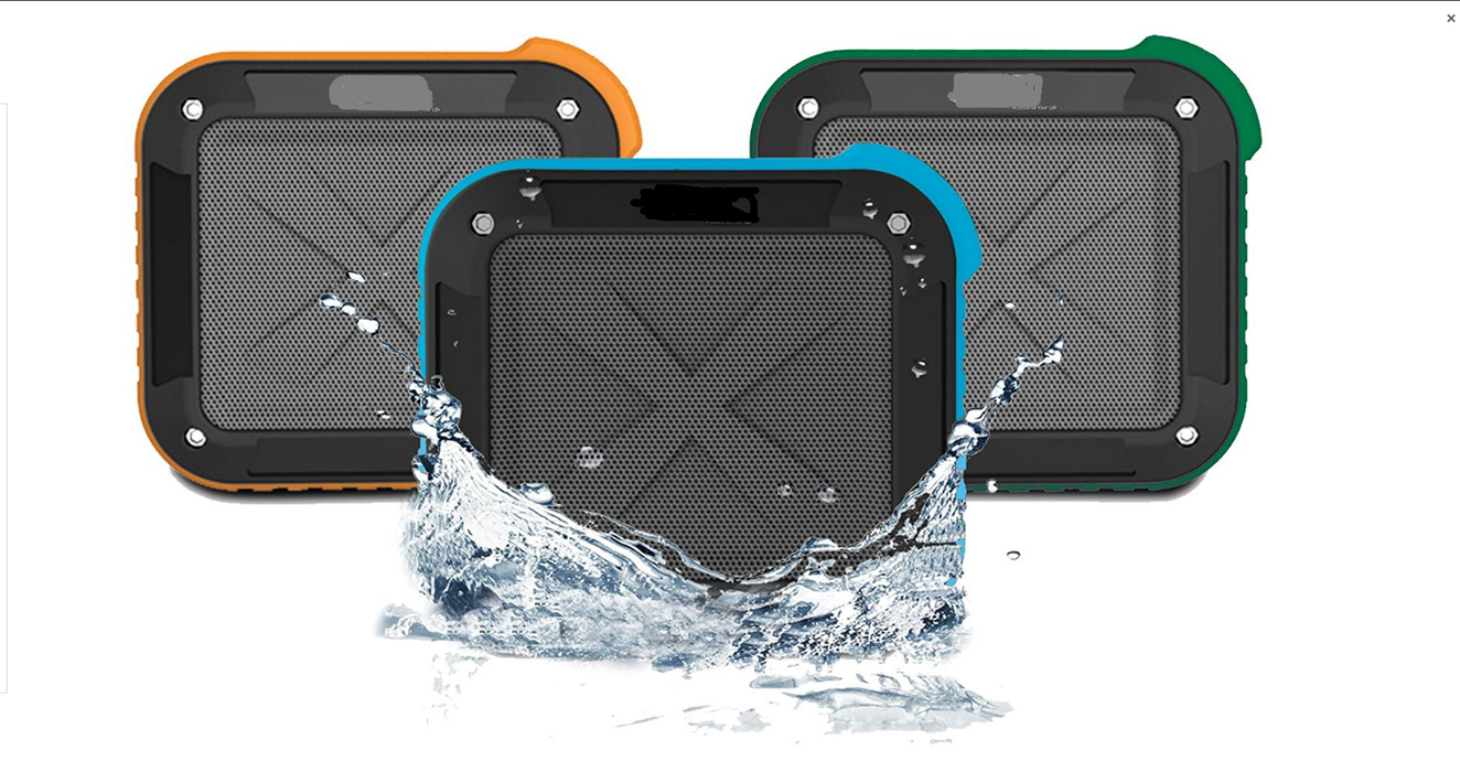 Portable Outdoor Shower Bluetooth 4.0 Speaker  , Waterproof, Wireless with 10 Hour Rechargeable Battery Life, Powerful 5W Audio Driver, Pairs with All Bluetooth Devices