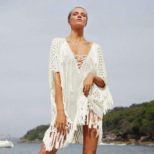Sexy Women Beachwear Lace Tassels Dress 2019 Summer Wholesale cover up Beach Dress for bikini Swimwear