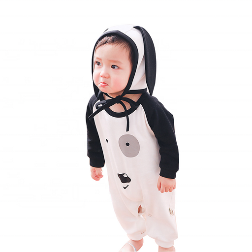 0d9573446 Spring autumn fashion baby girl hooded jumpsuit cute 0-3 year old pajamas  baby warming