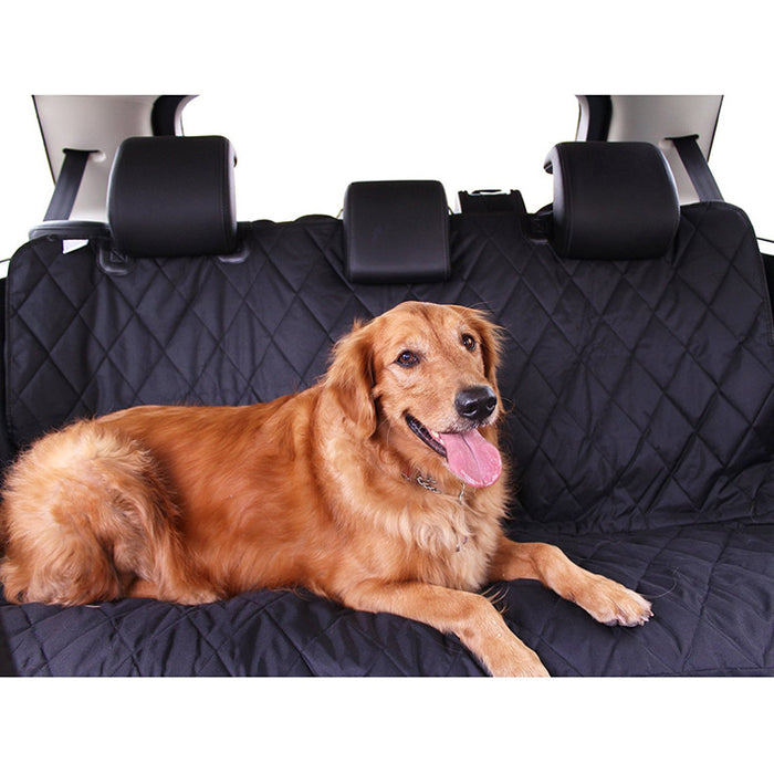 Luxury Pet Car Seat Cover With Seat Anchors for Cars, Trucks, and Suv's - Black, WaterProof & NonSlip Backing