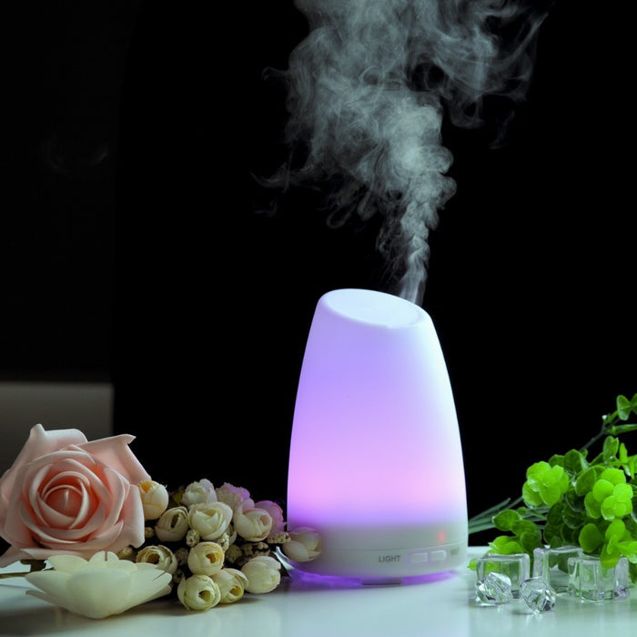 Aromatherapy Essential Oil Diffuser Portable Ultrasonic Diffusers Cool Mist Humidifier with 7 Colors LED Lights and Waterless Auto Shut-Off for Home Office Bedroom Room