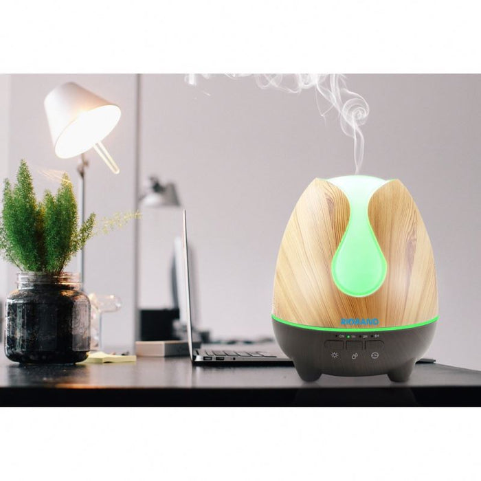500ml ultrasonic essential oil aroma diffuser with Aromatherapy Essential Oil Diffuser Cool Mist Humidifier Waterless Auto Shut-off with7 LED Color Changing Lights