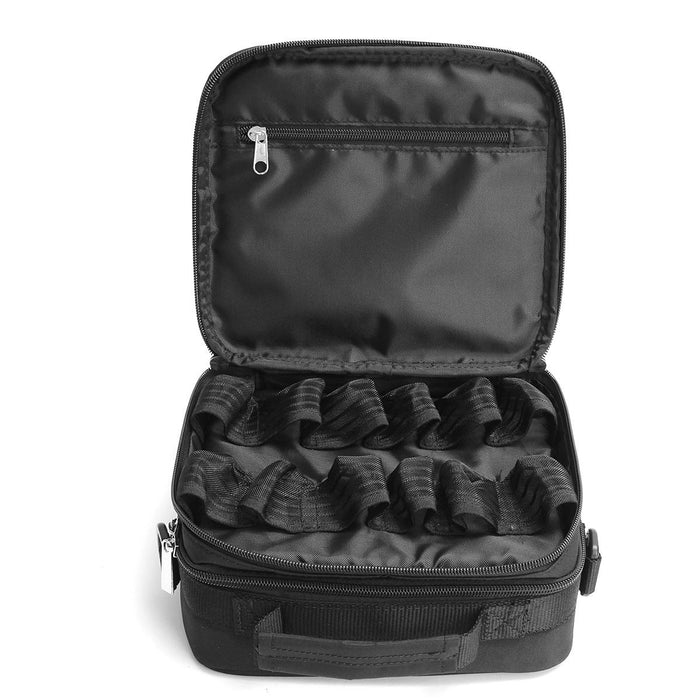 42 Bottles Essential Oils Bag Storage Foam Nail Polish Black Carrying Case Oganizer Double Zipper for Traveling Sturdy
