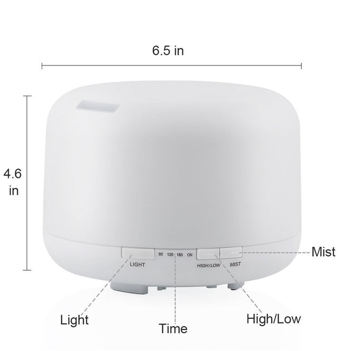 Essential Oil Diffuser 500ML Air Humidifier Aroma Lamp Aromatherapy Electric Ultrasonic Aroma Diffuser Mist Maker