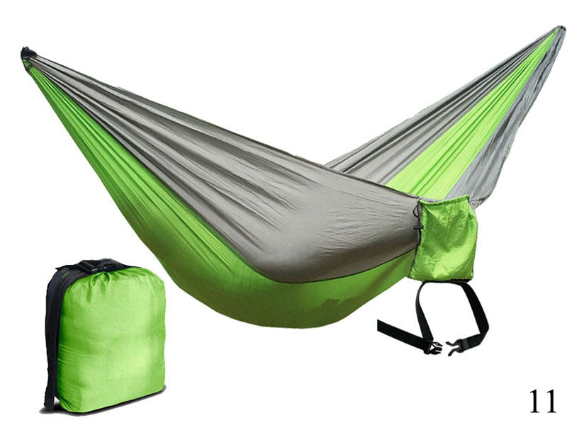Solid Color Parachute Hammock  Camping Survival garden swing Leisure travel Double Person Portable Parachute outdoor furniture