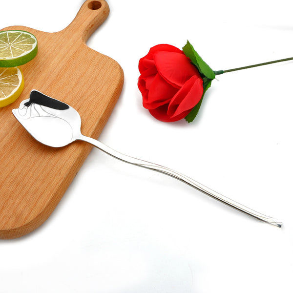 High Quality 304 Stainless Steel Rose Spoon