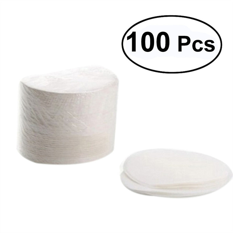 100pcs Round Bleached Paper Coffee Filters For Aeropress Coffee Maker