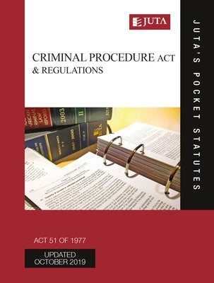 Criminal Procedure Act 51 of 1977 & Regulations 16e