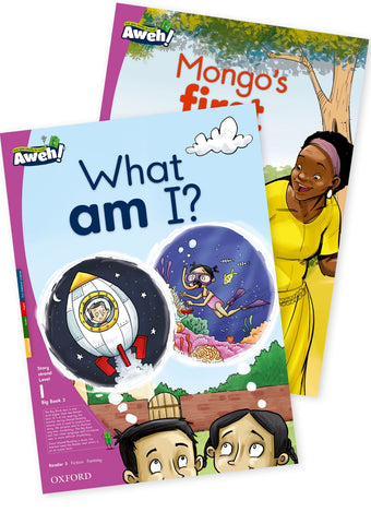 Aweh! English Grade 1 Level 1 Big Book 2 What am I?, Mongo#s first day