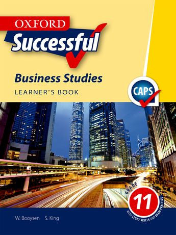Oxford Successful Business Studies Grade 11 Learner's Book - Elex Academic Bookstore