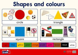 Oxford Grade R Poster 3: Shapes and colours - Elex Academic Bookstore