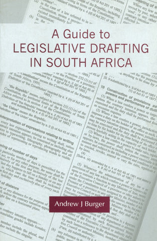 Guide to Legislative Drafting in South A frica - Elex Academic Bookstore