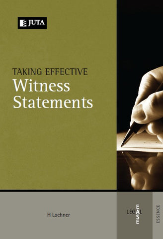 Taking Effective Witness Statements - Elex Academic Bookstore