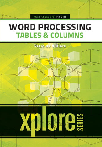 Word Processing: Tables & Columns – SAQA ID 119078