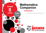 Grade 8 Maths Companion Workbook 1 Terms 1 & 2 - Elex Academic Bookstore