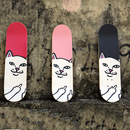 "33""x10"" Cute Cats Skateboarding Deck Skateboard Griptape Anti-skid Skate Board Rough Sandpaper For Longboard Peny Board"