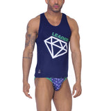 High Class Diamond Tank Top Navy