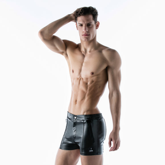 Nauti Boy Faux Leather Shorts