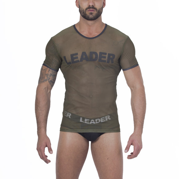 Claim Mesh T Shirt Army Green