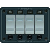 Blue Sea 8262 Waterproof Panel 4 Position - Slate Gray