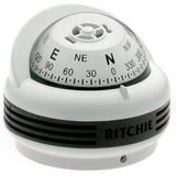 Ritchie TR-33W Trek Compass - Surface Mount - White