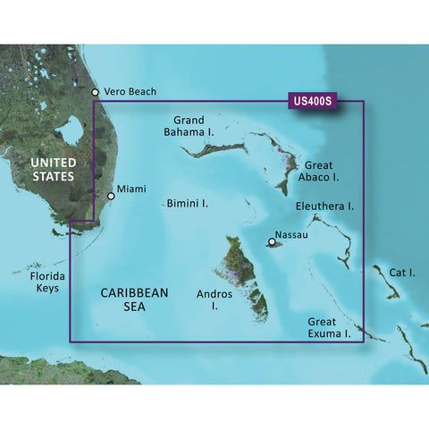 Garmin BlueChart® g2 HD - HXUS400S - Walkers Cay to Exuma Sound - microSD™/SD™