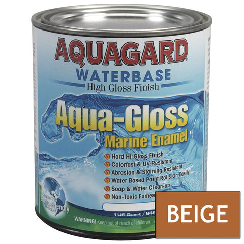 Aquagard Aqua Gloss Waterbased Enamel - 1Qt - Beige