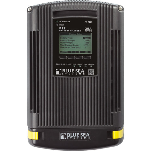 Blue Sea 7521 P-12 Battery Charger 25Amp Three Bank 12VDC
